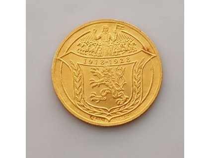 nvestiční zlato-Zlatý 4 dukát Jsem ražen z českého kovu 1928