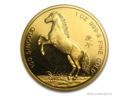 4736 investicni zlata mince lunarni serie singapur 100 dolaru 1 oz