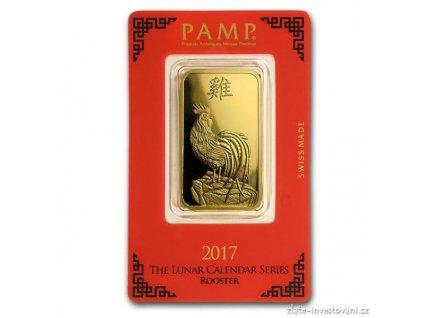 Investiční zlatý slitek PAMP Rok kohouta 2017 5g