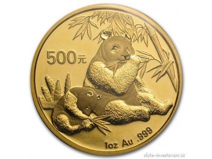 4958 investicni zlata mince cinska panda 2007 1 oz