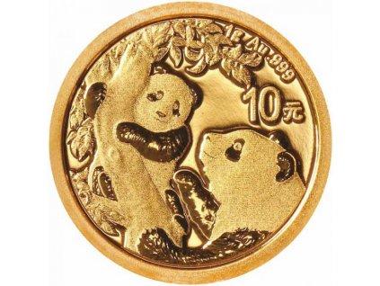 investiční zlato-Zlatá mince Panda 2021-1g