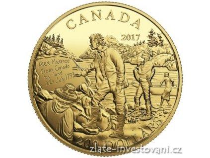 5135 zlata mince 200 dolaru alexander mackenzie 2017