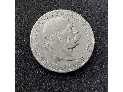 5177 stribrna petikoruna frantiska josefa i 1900 bz