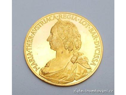 Zlatá dukátová medaile Marie Terezie proof