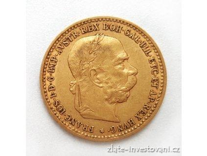 5270 zlata mince desetikoruna frantiska josefa i rakouska razba 1897