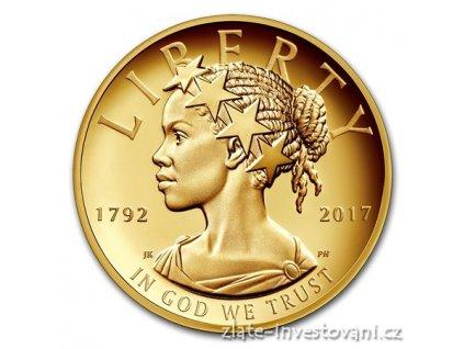 5312 zlata mince american liberty lady 2017 225 vyroci us mint 1 oz
