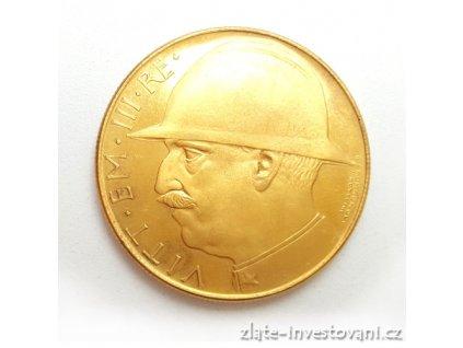 5498 zlata mince 100 lira vittorio emanuele iii 1922 varianta 20 liry