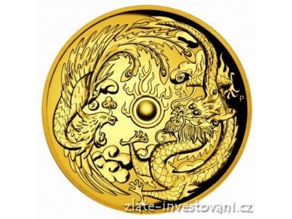 5501 investicni zlata mince drak a fenix 2017 australie 2 oz