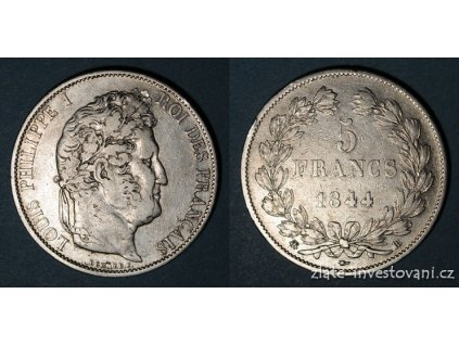 5675 stribrny francouzsky 5 frank louis philippe 1832 1848