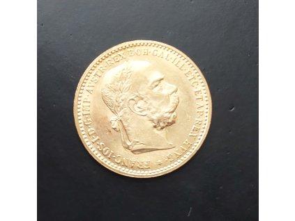 Zlatá mince Desetikoruna Františka Josefa I.- rakouská ražba 1906