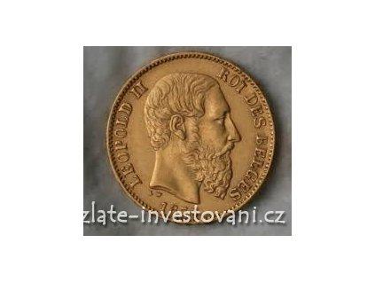5699 zlata mince belgicky dvacetifrank kral leopold ii 1875