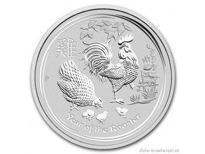 5750 investicni stribrna mince rok kohouta 2017 1 oz