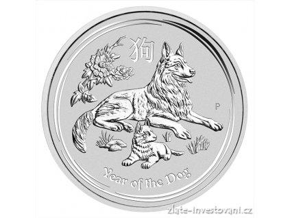 5777 investicni stribrna mince rok psa 2018 1 2 kg