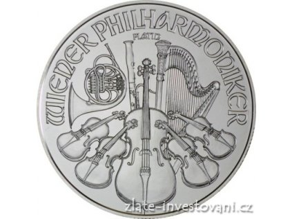 Investicni platinova mince rakousky philharmoniker 2017 1 oz