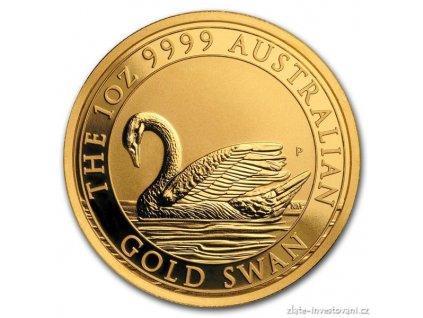Zlatá investiční mince australská Labuť-Perth Mint 2017