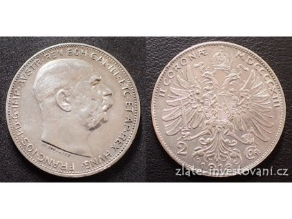 5984 stribrna dvoukoruna frantiska josefa i 1913