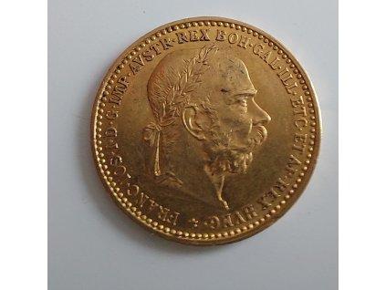 6080 zlata mince desetikoruna frantiska josefa i rakouska razba 1896