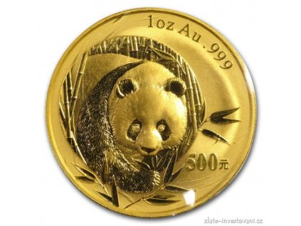6086 investicni zlata mince cinska panda 2003 1 oz
