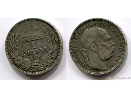 6119 stribrna koruna frantiska josefa i 1894 kb
