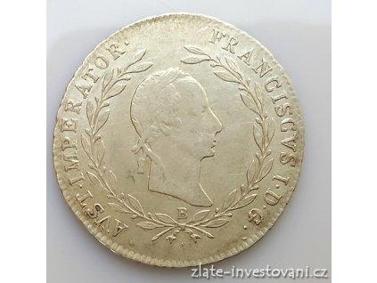 Stříbrný 20 krejcar František Josef  I. 1869