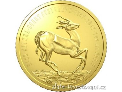 6197 zlata mince antilopa springbok 2017 1 oz