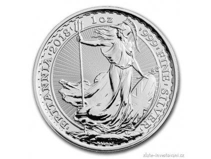 6206 investicni stribrna mince britannia 2018 1 oz