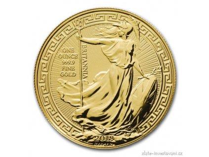 Investiční zlatá mince Britannia -2018 - orientální motiv 1 Oz