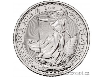 Investiční platinová mince Britannia 2018 1 Oz