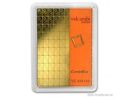 Investiční zlatý kombi slitek Heimerle-Meule 100 x 1g Valcambi 100g