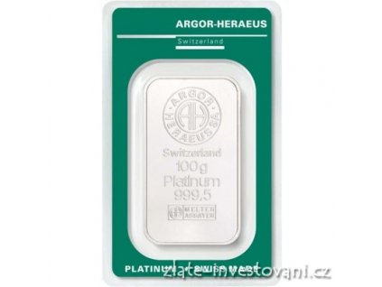 6518 investicni platinova cihla argor heraeus 100g