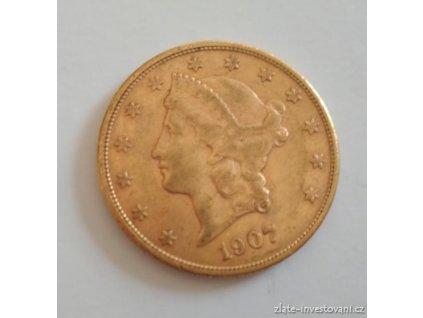 6548 investicni zlata mince americky double eagle liberty 1907