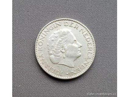 6599 stribrny 1 gulden kralovna juliana