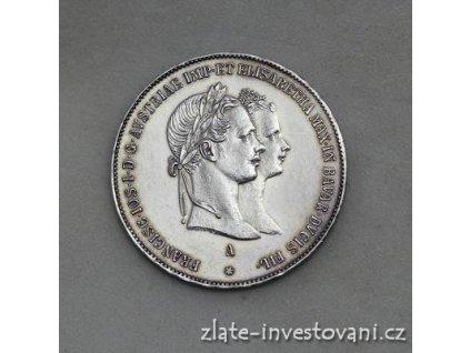 6722 stribrny zasnubni zlatnik frantiska josefa i 1854