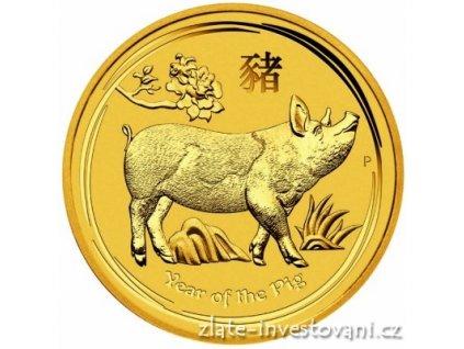 Investiční zlatá mince rok Vepře 2019 2 Oz