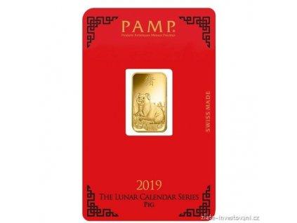 Investiční zlatý slitek PAMP Rok vepře 2019 5g