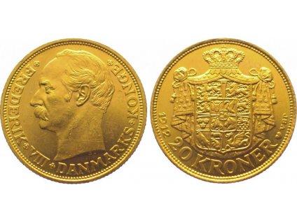 Zlatá Dánská dvacetikoruna 1908-1912