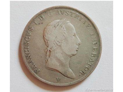 Stříbrná mince 1/2 Scudo-František I.-Benátky 1824 V scudo