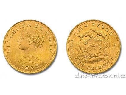 Zlatá mince Dvacet peso-Chile