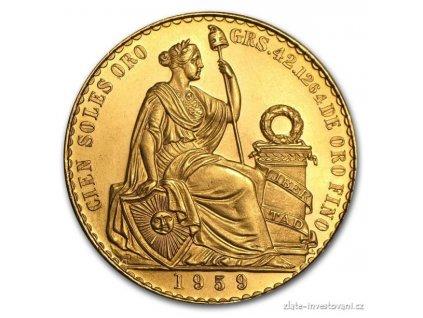 Zlatá mince Svoboda-Peru 50 soles