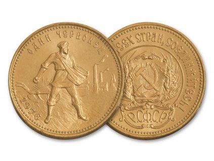 zlatý ruský červoněc-10 rublů