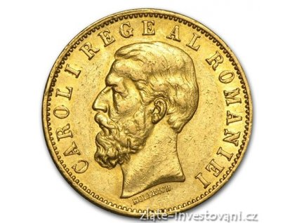 Zlatá mince 20 lei-král Carol I. 20 lei