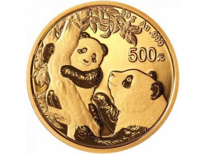 Investiční zlatá mince čínská Panda 2021-30g