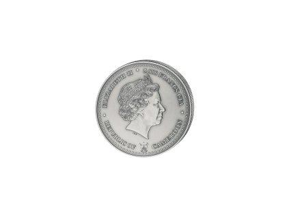 Stříbrná mince 5 Oz Kamerun-Historické obchodní cesty-Spice route 2018-cesta čaje