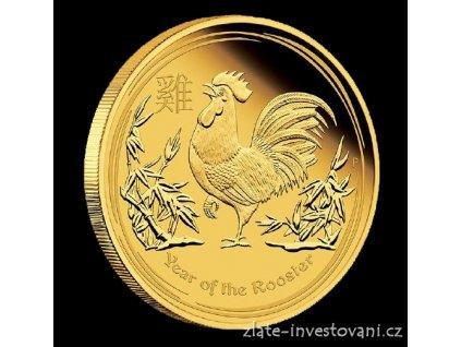 4862 investicni zlata mince rok kohouta 2017 proof 1 10 oz