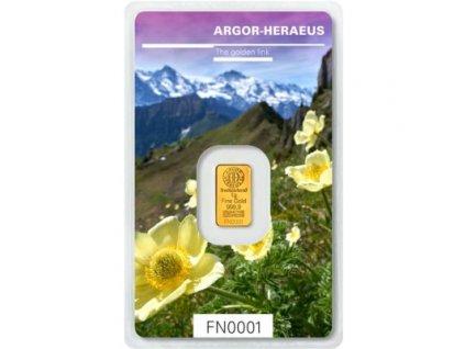 Investiční zlatý slitek Argor Heraeus-Jaro 2019 limitovaná edice 1g