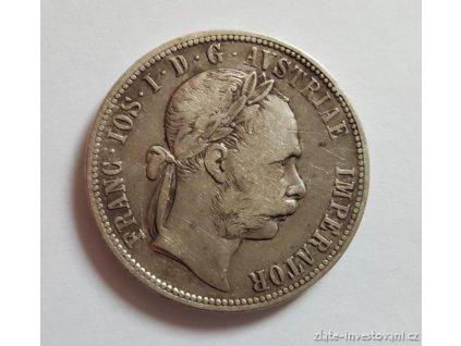 6374 stribrny 1 zlatnik frantiska josefa i 1884