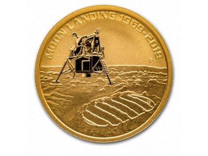Zlatá investiční mince Moon landing 2019-1 Oz
