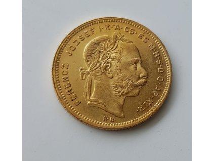 Zlatá mince Osmizlatník Františka Josefa I.-uherská ražba 1877