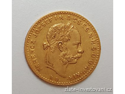 3668 zlaty ctyrzlatnik desetifrank rocnikovy 1884 k b
