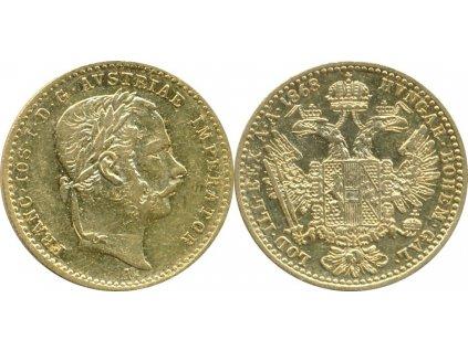 Zlatý Dukát Františka Josefa I.-1868 A